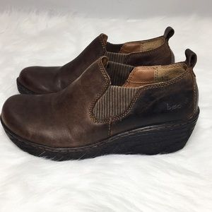 BOC Womens Leather Clog 6.5 Brown